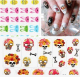 Flower Rabbit Design Water Transfer Nail Art Stickers Nail Sticker