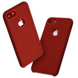 Ultra-Thin Liquid Silicone Breathable Cooling Mesh Hard Phone Cover for iPhone 7