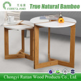 Assembling Round Desk Coffee Table Made of Bamboo for Living Room Hotel
