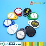 Custom 134.2kHz T5577 T5567 T5557 ABS PVC RFID Smart RFID KeyFobs keychain