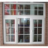 Nice Grills Design PVC Window with Double Clear Glass