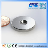 Strong N40 D25.4X3.175mm Ring NdFeB Counterbore Hole Magnet