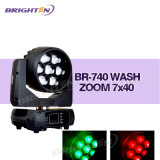 Professional Mini Moving Head Light LED Wash 7*40W with Zoom
