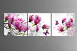 3 Piece Free Shipping Hot Sell Modern Wall Painting Purple Pink Blue Flower Home Decorative Art Picture Paint on Canvas Prints Mc-177