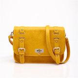 Dark Yellow Fashion Leather Women Messenger Bag (MBNO037041)