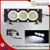 Single Row 60W 11.3′′ White Amber LED Light Bar