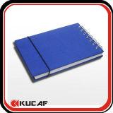 Mini Spiral Notebook with Elastic Closure