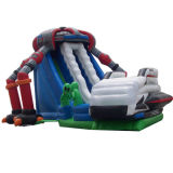 Alien Invasion Double Lane Inflatable Slide (SL-044)
