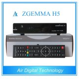 Official Softwares Supported Zgemma H5 Fatest CPU HDTV Receiver Hevc/H. 265 DVB-S2+T2/C Twin Tuners