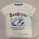 Round Neck Whiter Boy Baby T-Shirt Clothes Sq-6323