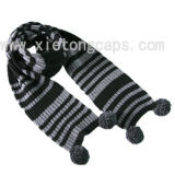 2017 Hot Knitted Scarf with Pompons (JRI063)