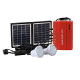 Solar Power System with LED Light and Charger