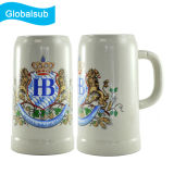Sublimation Porcelain Ceramic Ok Beer Mug 500ml for Image Printing