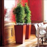 Taper Square Garden Fiberglass Flower Planter (FO-209)