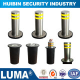 304 Stainless Steel Automatic Hydraulic Rising Bollard for Car Parking