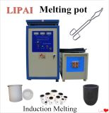 Induction Heater with Crucible Pot for Melting Au PT Cu Zn