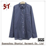 Custom Fashion Clothing Ladies Striped Polo Shirts