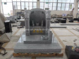 G603 Light Granite Chinese Style Monument with Lions Sculpture
