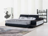 American Style Home Furniture Bedroom Leather Bed