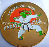 Soft Enamel Gold Plating One-Side Coin