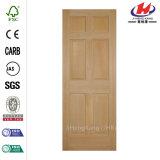 30 in. X 80 in. 6-Panel Fir Single Prehung Door