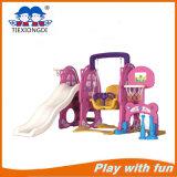 Children Indoor Plastic Swing and Slide Play Set
