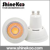Aluminium Plastic COB GU10 7W LED Spotlight