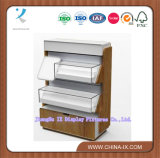Glss and Wooden Display Stand/Rack with Drawer