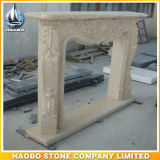 Stone Fireplace Surround Folral Carving