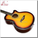 "[Winzz] 40"" OEM Linden Plywood Top Cutaway Acoustic Guitar"