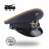 New Design Military Hat with Yellow Piping
