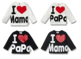 100% Cotton Baby T-Shirt, Baby Clothing with Long Sleeves
