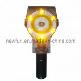Solar Super Bright Yellow LED Barrier Warning Lights