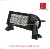 LED Car Light of 7.5 Inch 36W Double Row LED Light Bar Waterproof for SUV Car LED off Road Light and LED Driving Light