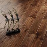 Black Walnut Engineered Wood Flooring Handscraped Rustic Style
