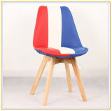 Home Chairs with Flag PU Cover and Original Wooden Legs