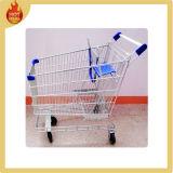 Steel 4 Wheel Shopping Trolley for Supermarket
