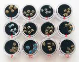 Nail Art, Nail Ornament, Nail Beauty, 3D Metallic Nail Deco
