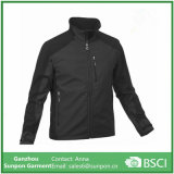 Fashionable Loose Black Men Softshell Jacket