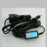 Hot Sale Universal Car and Truck USB Charger Power with USB Port for Mobile Phone and Car DVR, GPS Navigation