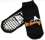 Custom Design Exercise Grip Socks Cotton Trampoline Park Bounce Non Slip Jump Sock