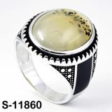 Factory Wholesale 925 Silver Jewelry Ring with Natural Agate