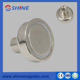 Strong Nickle Plated NdFeB Cup Magnet with Thread Hole