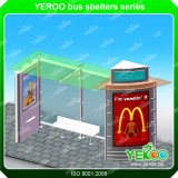 Outdoor Furniture Advertising Metal Bus Stop Shelter for Sale