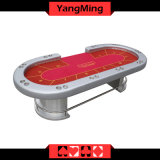 Luxury Texas Holdem Poker Table 10 Players Use Custom Design Dye Sublimatio Pokertable with Dealer Position Ym-Tb01