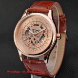 Simple Fashionable Automatic Men′s Watches with Genuine Leather Strap Fs653
