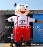 New Design Inflatable Standing Cartoon Milk Cow Model