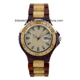 Hot Waterproof Two Tone Wooden Wrist Watches for Men Women