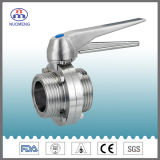 Stainless Steel Multiposition Handle Male Threaded Butterfly Valve (ISO-No. RD4321)