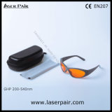 High Security Laser Shielding Glasses/ Laser Safety Goggles for 532nm Green Lasers/ 200-540nm O. D5+ with Grey Frame 55